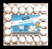 Ovos brancos Ekobom 30UN (tipo grande, categoria A)