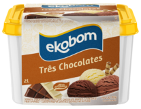Sorvete Ekobom Três Chocolates